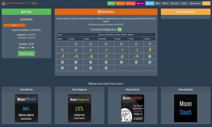 Скриншот игры Crypto Mining Game