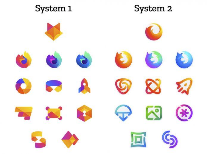 Новые логотипы Mozilla