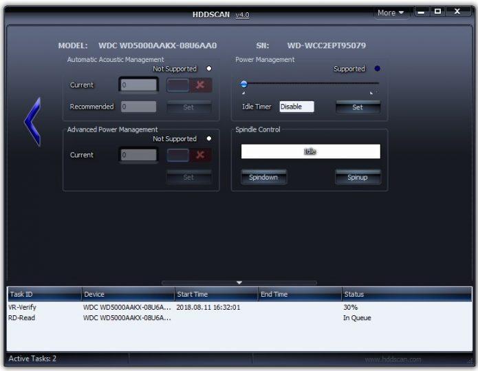 Окно для изменения параметров носителя