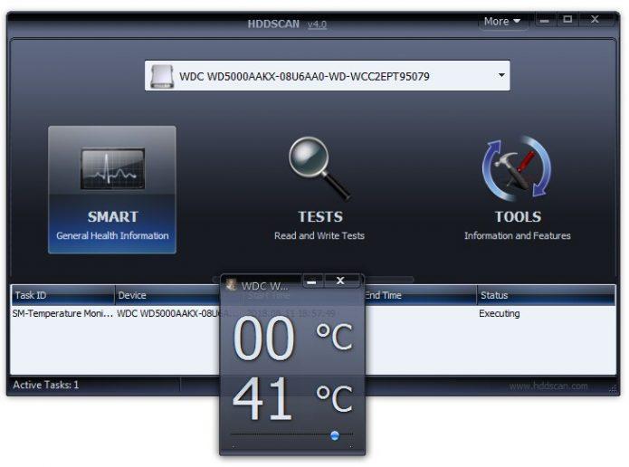 Монитор температуры носителя