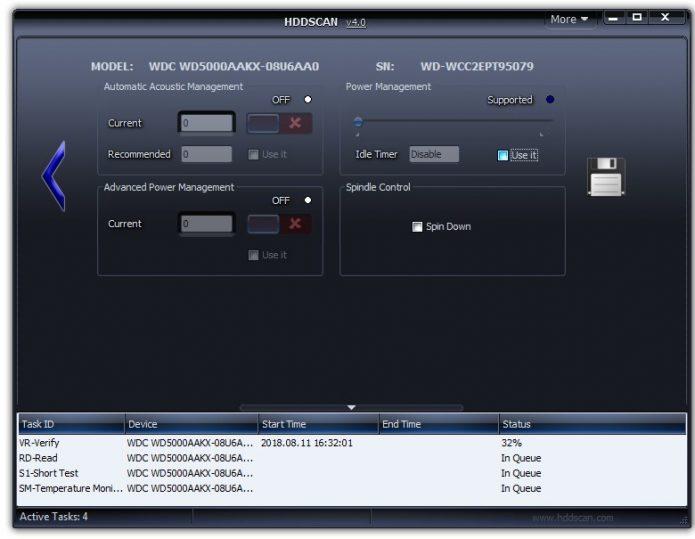 Программа для сканирования диска HDDScan
