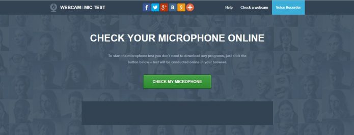 Сайт Check Your Microphone online