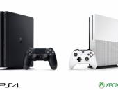 Игровые приставки XBox One и  PlayStation 4