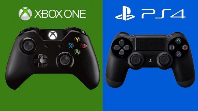 Геймпады Xbox One и Sony PlayStation 4