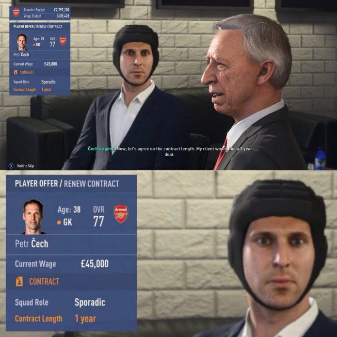 Петр Чех в FIFA 19 до патча