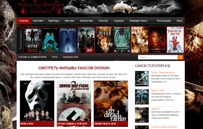 Сайт Kino-Horror