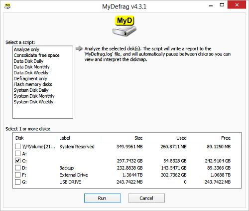 Программа MyDefrag