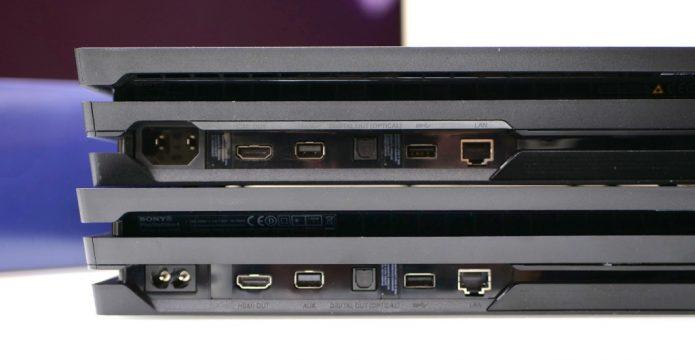 Старая и новая версии Sony PlayStation 4 Pro