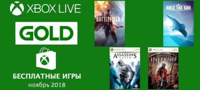 Игры, входящие в подписку Xbox Live Gold