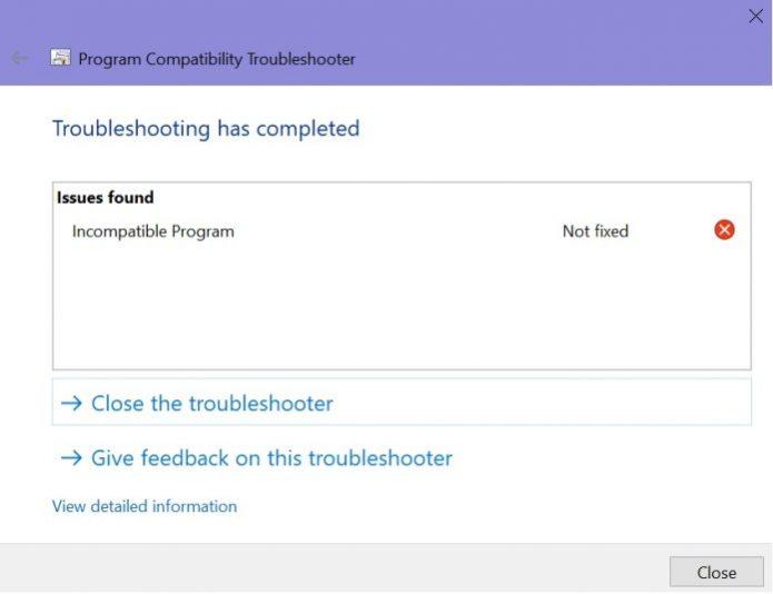 Сообщение о несовместимости iCloud с Windows 10