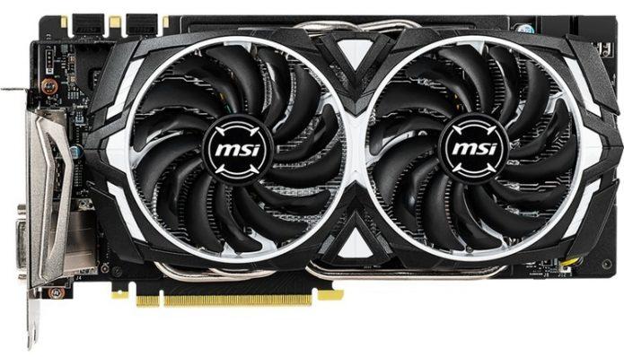MSI GeForce GTX 1060 Armor 6GD5X OC