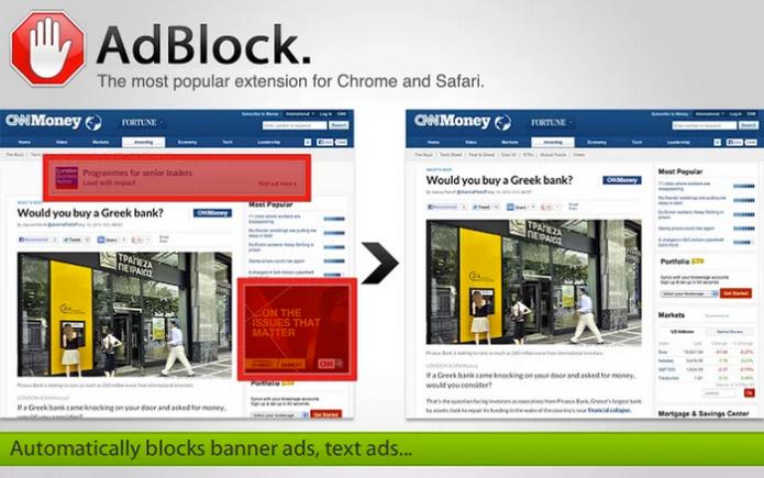 Блокировка рекламы на сайте при помощи Adblock