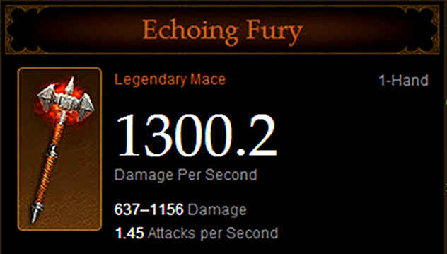 Echoing Fury из Diablo 3