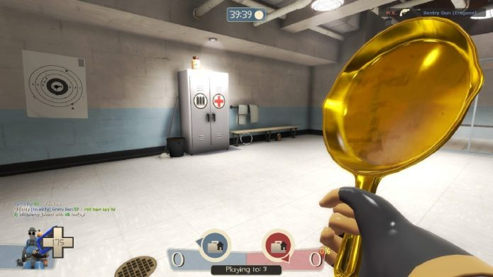 Золотая сковородка из Team Fortress