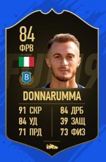 Карточка игрока Брешии Альфредо Доннарумму в FIFA 19