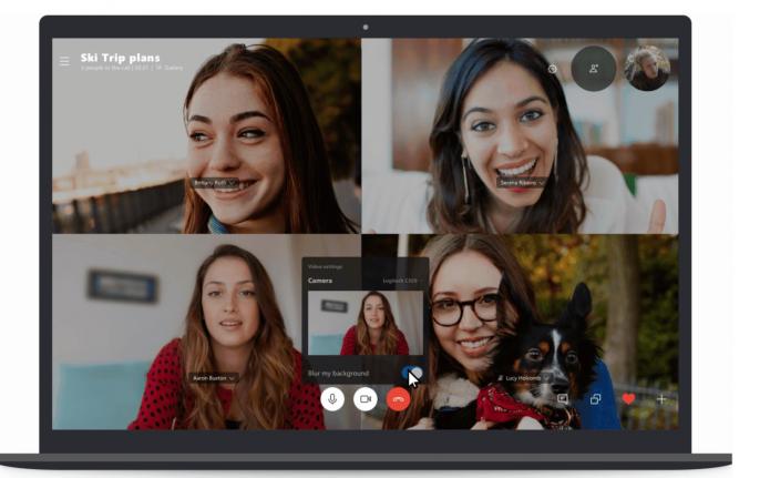 Размытие фона в Skype