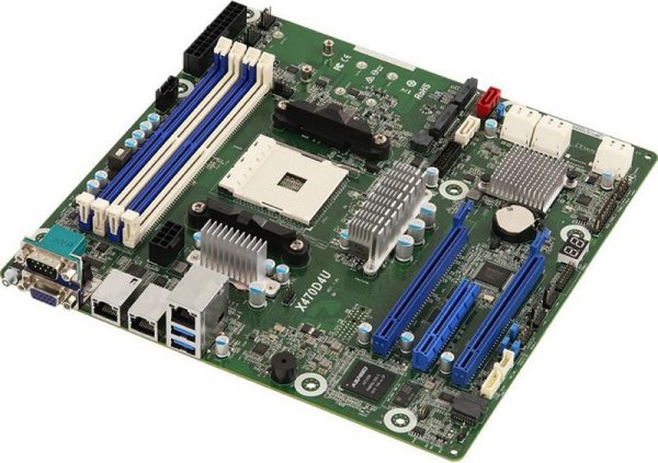 ASRock Rack X470D4U — серверная матплата для десктопных процессоров AMD Ryzen
