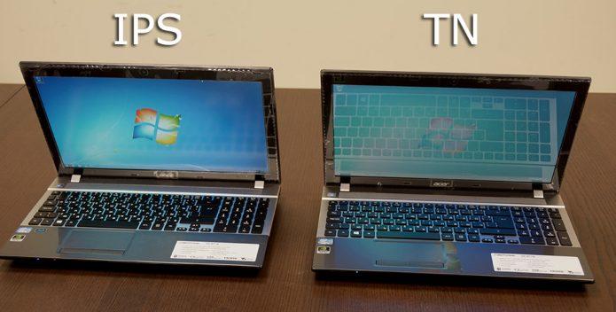 Ноутбуки с матрицей IPS и TN