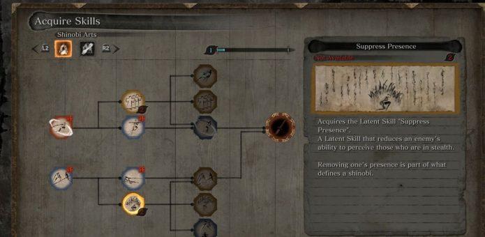 Система прокачки навыков в Sekiro: Shadows Die Twice