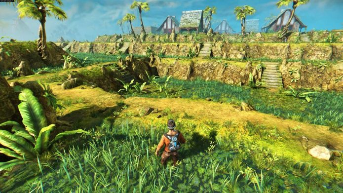 Кадр из игры Outcast: Second Contact