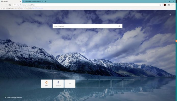 Обновлённый Microsoft Edge