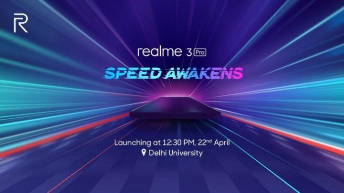 Сообщение о дате презентации Realme 3 Pro