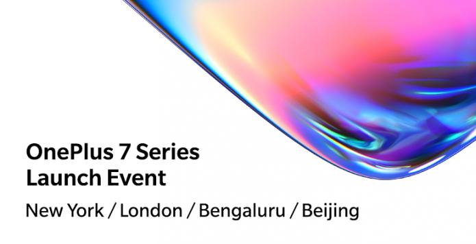 Объявление о презентации смартфонов OnePlus 7
