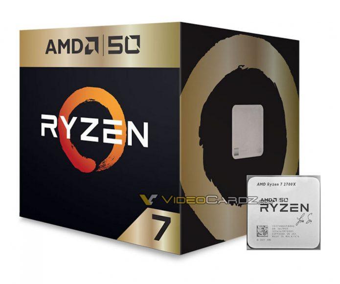 AMD Ryzen 7 2700X 50th Anniversary Edition
