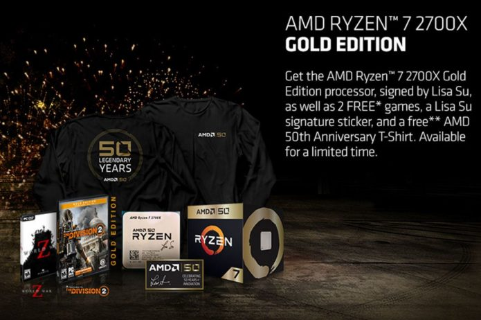 Комплект поставки AMD Ryzen 7 2700X 50th Anniversary Edition