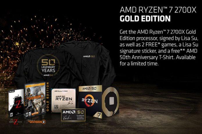 Комплект поставки AMD Ryzen 7 2700X 50th Anniversary Edition