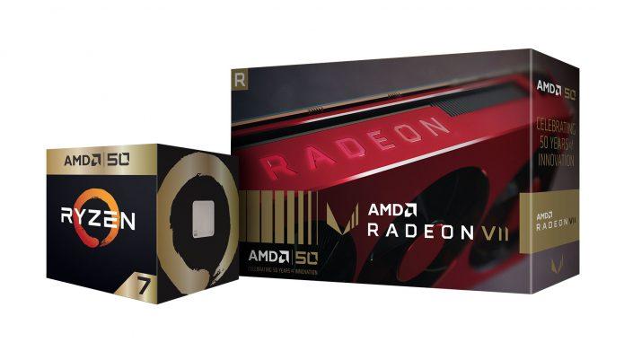 AMD Ryzen 7 2700X Gold Edition и Radeon VII Gold Edition