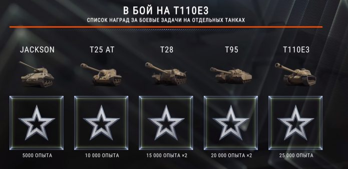 Список наград за боевые задачи в World of Tanks