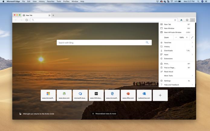Microsoft Edge для macOS