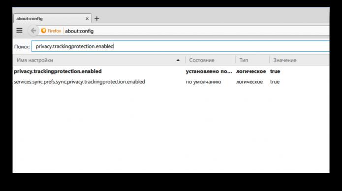 Отключение слежки в браузере Firefox