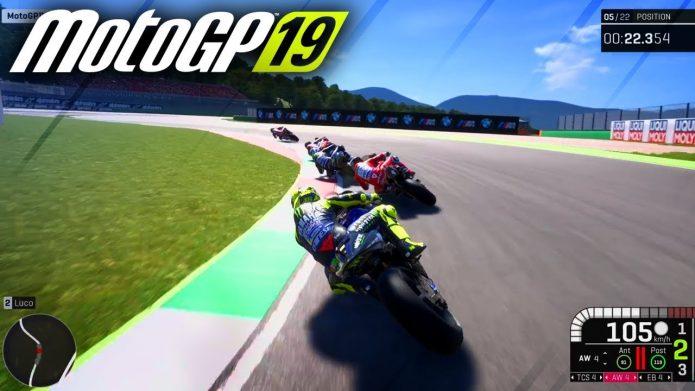 Кадр из игры MotoGP 19