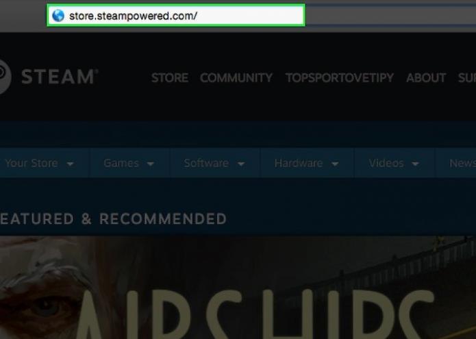 Официальный сайт Steam