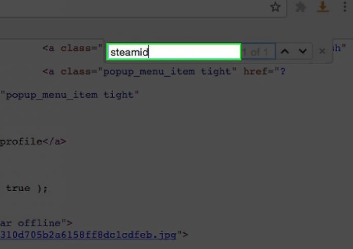 Поиск Steam ID в коде страницы