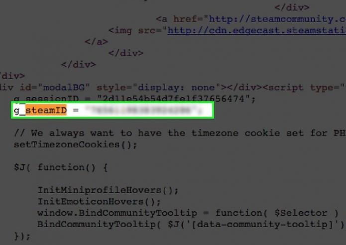 Просмотр Steam ID в коде страницы