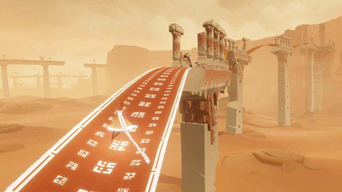 Кадр из игры Journey