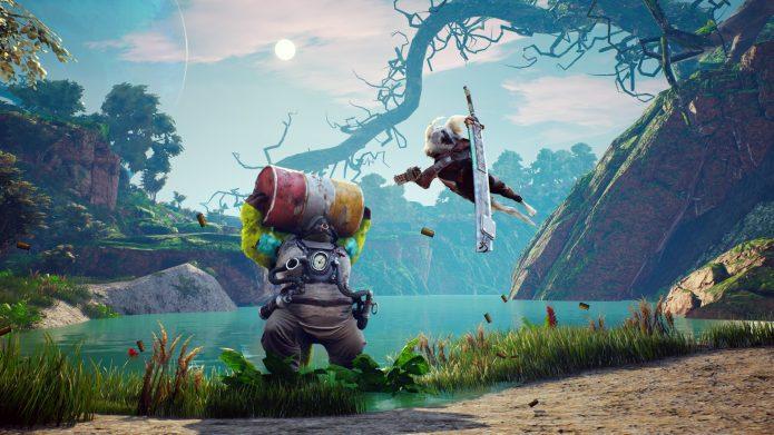 Кадр из игры Biomutant