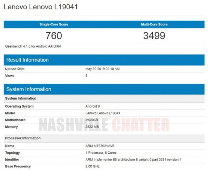 Результаты тестирования Lenovo A6 Note в Geekbench