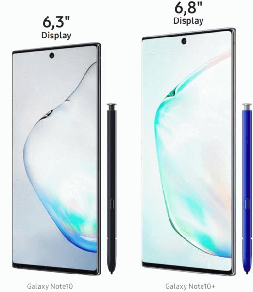 Samsung Galaxy Note10 и Galaxy Note10+