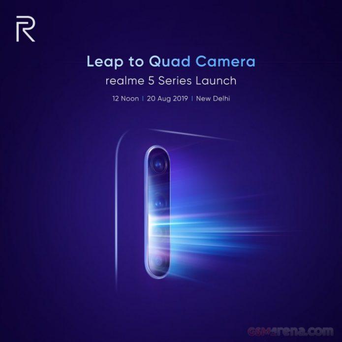 Тизер с датой анонса смартфонов Realme 5
