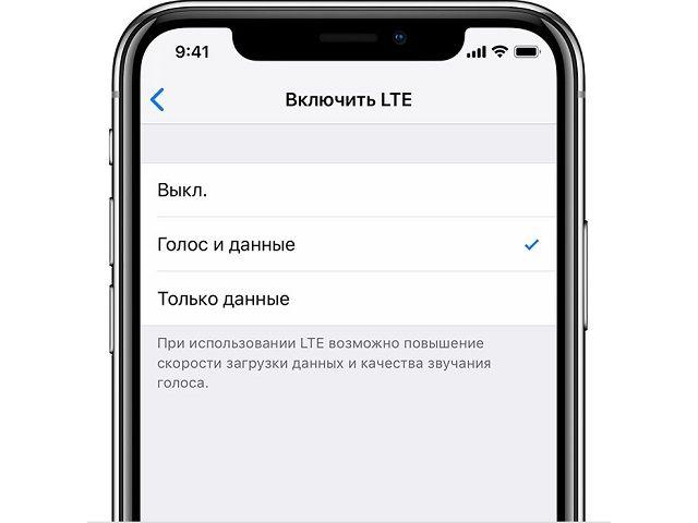 Активация VoLTE на iPhone