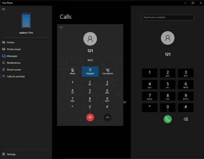 звонки через ОС Windows 10