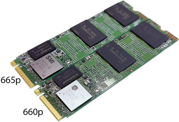 Intel SSD 665p и 660p