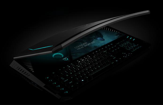 Дорогой черный ноутбук