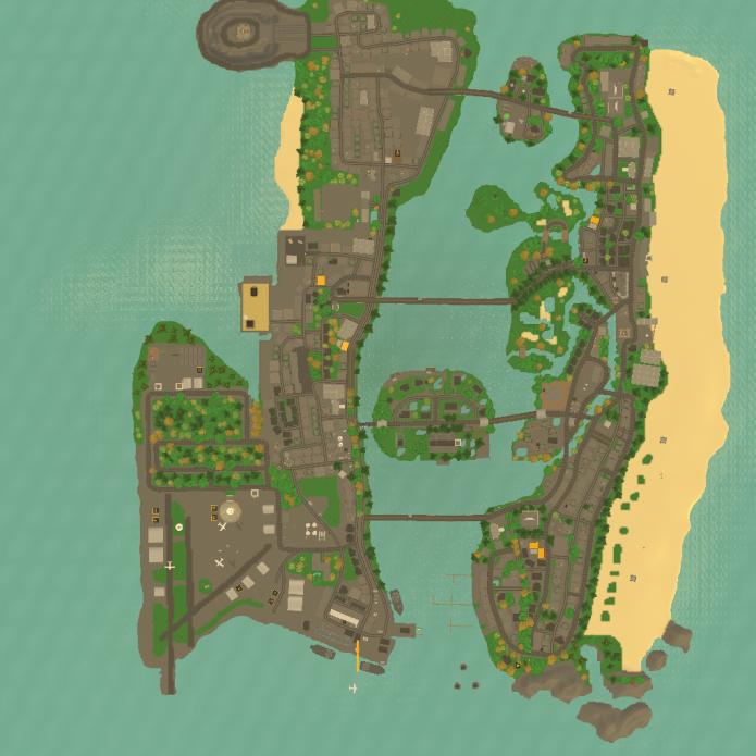 Карта Vice City в GTA San Andreas